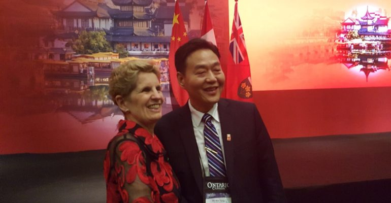 Ontario Premier's Trip to China