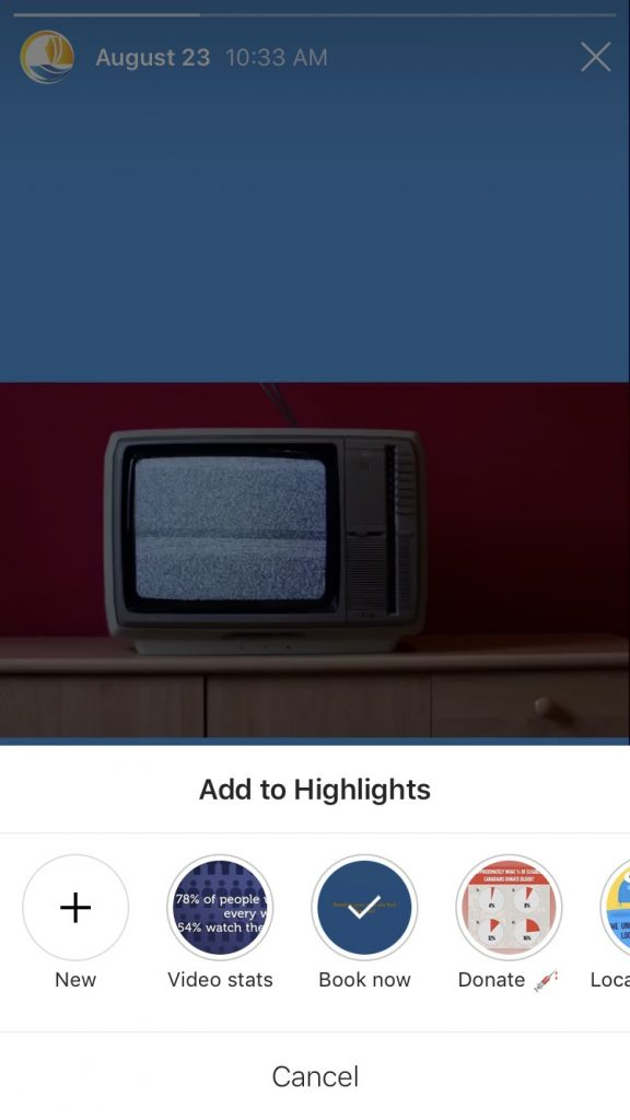 How To Use Instagram Story Highlights For Your Brand add to highlights