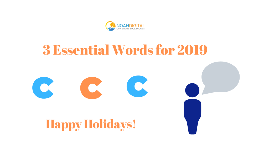 3 Essential Words for 2019